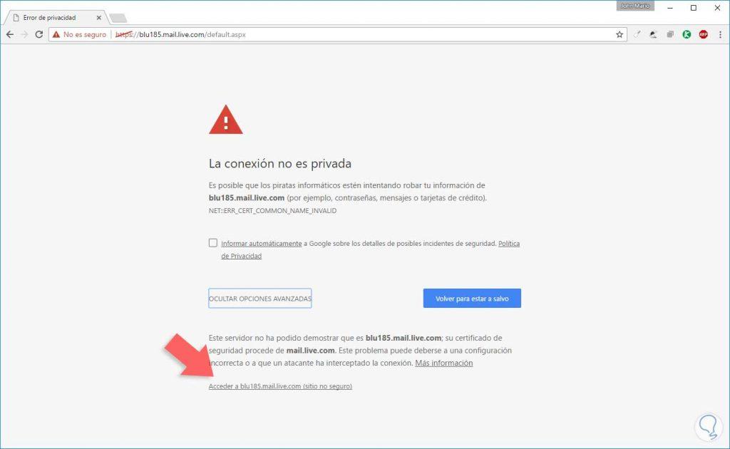 Sitio web no seguro ejemplo 02