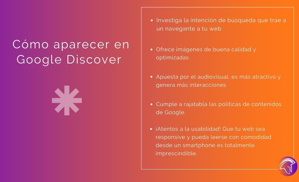Consejos para aparecer en Google Discover